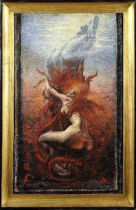 Jean Delville (1867-1953). Dimensions: 0m63 x 0m38
