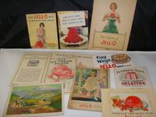 13 early 1900s Jello Booklets with Recipes