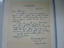 Tom Heinsohn Signed 1955 College Letter