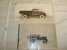 Kingsbury Line Art Photos Dump Truck & Stake Truck