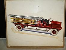 Kingsbury Line Art Fire Ladder Truck Stadler