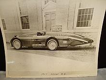 Rare Photo Working Kingsbury Sunbeam Racer