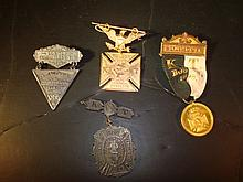 4 Knights Templar Medals Boston & St. Louis
