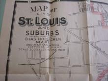 1923 Map of the City of St Louis & Suburbs