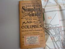 Dreher's Map of Columbus 1916 Guide Book