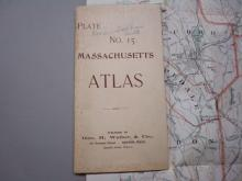 Atlas Plate No 15 Massachusetts Map 1891