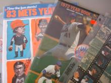 4 Mets Yearbooks 1970-1980