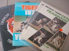 4 Detroit Tigers 1970's Yearbooks