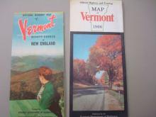 1950-60's Vermont, Eastern US & Massachusetts Maps