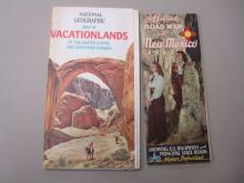 1942 Road Map New Mexico, NG Vacationlands 1966