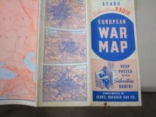 Sears Silvertone Radio European War Map 1939