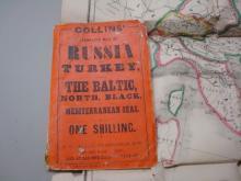 Collin's Map of Russia & Turkey