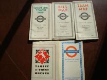 London Underground Bus, Green Line Maps 1935