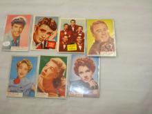 7 Movie Star Cards TOPPS