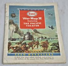 Esso Gas Map of the Pacific Therter WW II