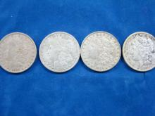 4 Morgan Silver Dollars #4