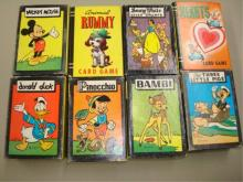 8 Vintage Card Games - Complete - Disney, Whitman