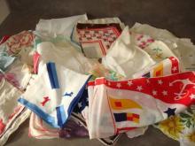 Over 60 Vintage Handkerchiefs Sailor, Scotties