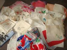 Over 60 Vintage Handkerchiefs Disney, Scotties
