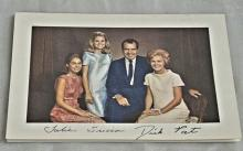 President Nixon Family greeting pamphlet