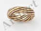 VAN CLEEF AND ARPELS. Bague en tresse de deux tons d'or
