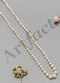 Collier en chute de 77 perles fines