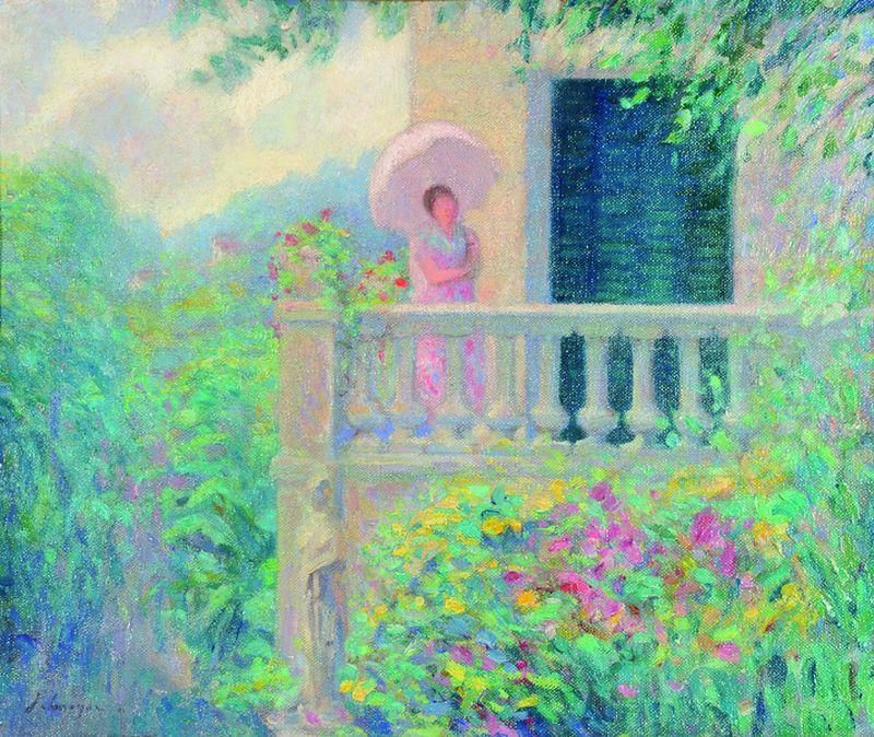 Henri LEBASQUE 1865 -1937 - Femme à l'ombrelle...