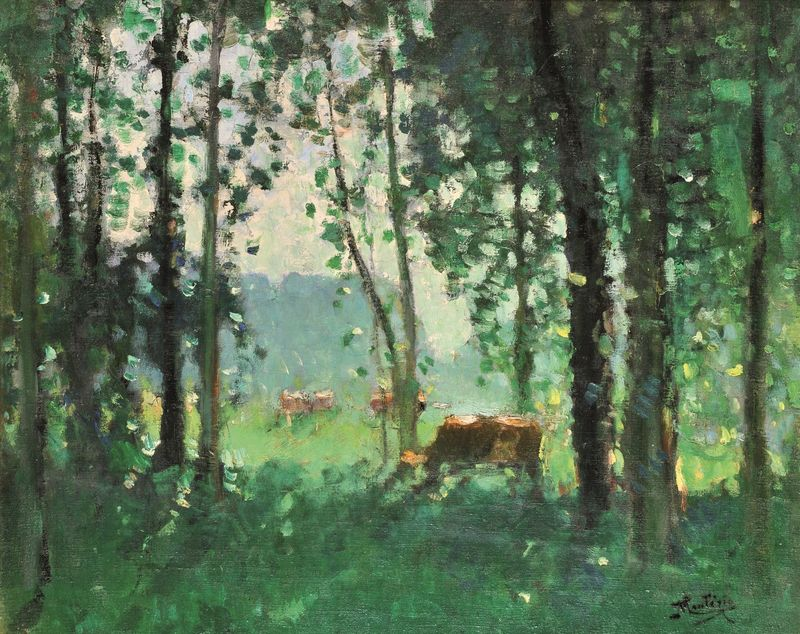 Pierre Eugène MONTEZIN 1874 -1946 - La lisière de la forêt