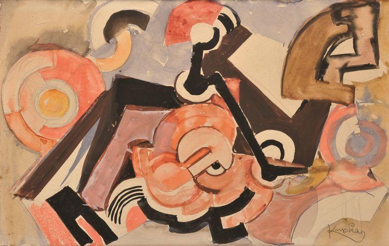 Frantisek KUPKA 1871-1957 - Composition géométrique et circulaire, 1925
