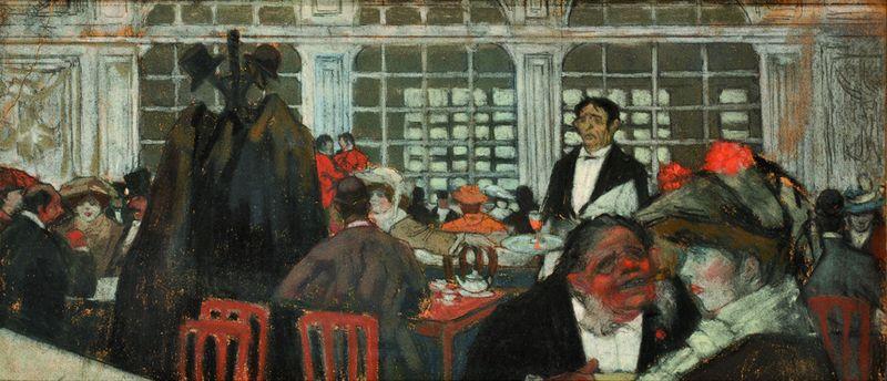 Georges Charles DUFRESNE 1876 -1938 - Le café à Paris 1906