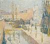 Fernand LANTOINE (1876-1955) Ville enneigée