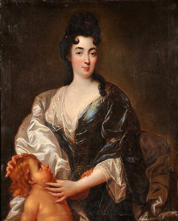 François de TROY - Portrait de jeune femme en buste
