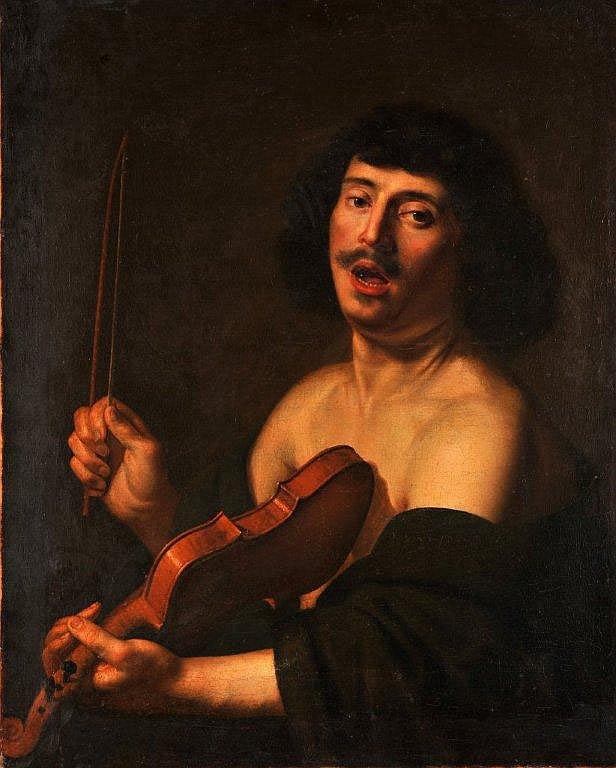 Ecole italienne du XVIIème siècle - Le violoniste