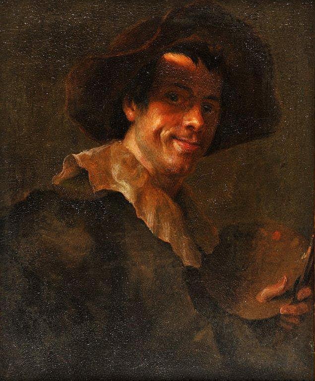 Ecole vers 1840 - Autoportrait de peintre