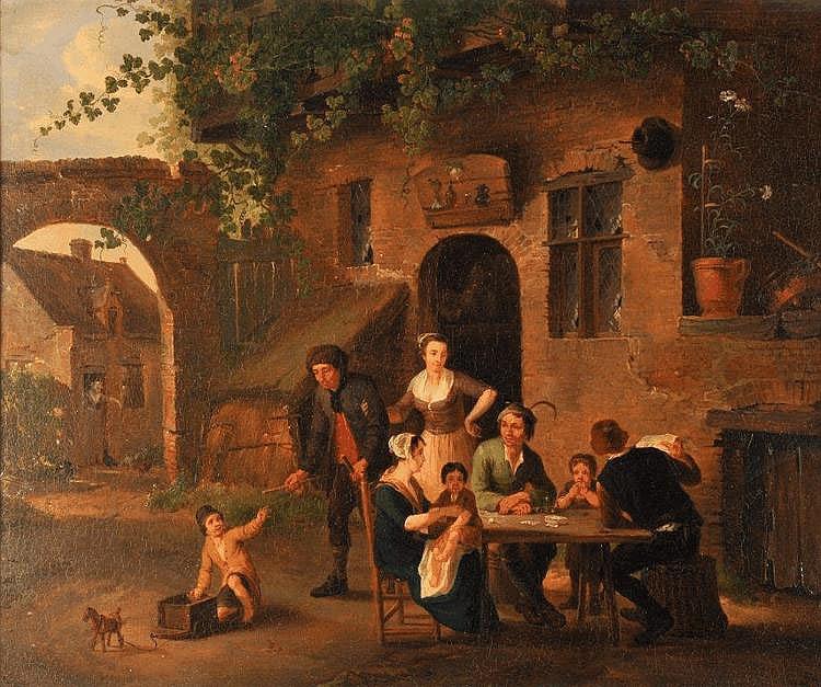 Petrus Johann VAN REGEMORTER - Scène de taverne