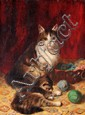Jules LEROY - Chatte et chatons