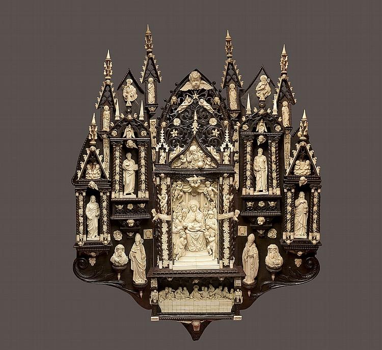 Important triptyque néo-gothique bavarois