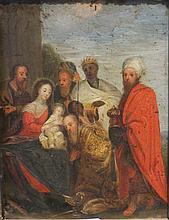 Ecole ANVERSOISE vers 1630, entourage de Pieter Lisaert    L'Adoration des Mages
