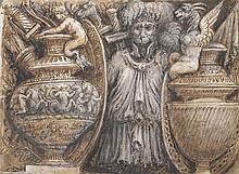 ECOLE ITALIENNE, FIN XVIIIème SIÈCLE Eléments antiques
