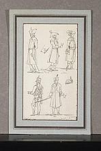 JACQUES FRANÇOIS JOSEPH SWEBACH- DESFONTAINES (METZ, 1769-PARIS, 1823) Etude de soldats