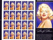 [Philatélie] Legends of Hollywood. Marilyn Monroe. Plan