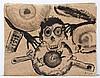SERGIO HERNÁNDEZ, Sin título, Firmada y fechada 2003. Tinta china sobre papel, 54 x 68 cm. Con copia de certificado.
