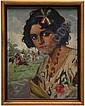 Carlos Ruano Llopis (1878 - 1950). Escuela española. China poblana y charros. Firmado y fechado. Óleo sobre lienzo. 41.5 x 31.5 cm.
