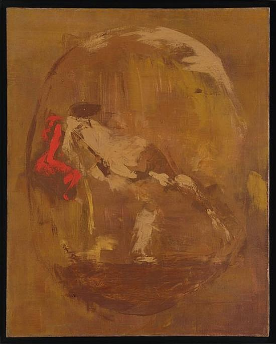 LUCIANO SPANÓ, Sin título, Firmado al reverso. Óleo sobre tela, 99.5 x 80 cm