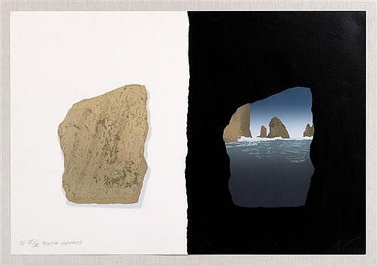 JAN HENDRIX, Double Elephant, Firmada. Serigrafía P / E III / V, 53.5 x 78 cm