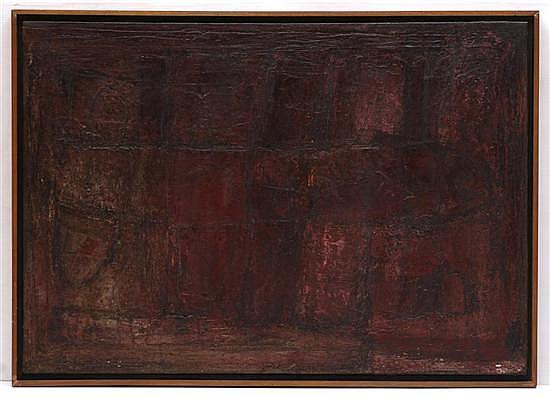 ALFONSO MENA PACHECO, Vuelo Nocturno, Firmado al reverso. Óleo sobre tela, 70 x 100 cm