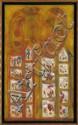 ROLANDO ROJAS, Sin título, Firmada. Mixta sobre tela, 100 x 60 cm
