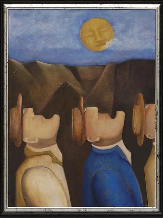 DANIEL HEIBLUM, Reflejos, Firmado y fechado 1999. Óleo sobre tela., 60 x 45 cm