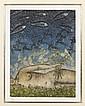 NAHUM B. ZENIL, Crepúsculo, Firmado y fechado 87. Grabado 36 / 50, 23 x 31 cm