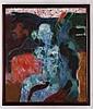 GILBERTO ACEVES NAVARRO, Vedette, musa y nahual, todos muy sensuales, Firmado México 23 08 83. Acrílico y óleo/ tela. 100 x 85 cm